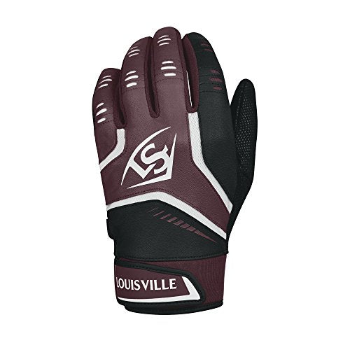 Louisville Slugger Omaha Adult Batting Gloves - Large, Maroon