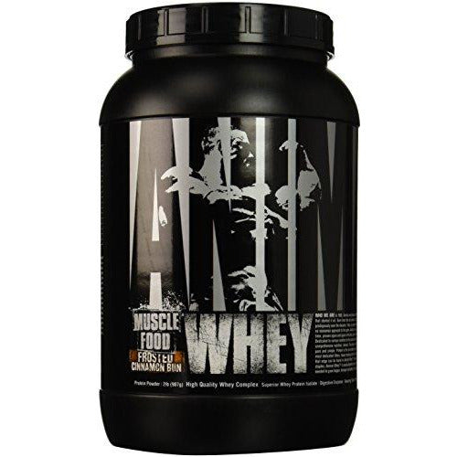 Universal Nutrition Animal Whey Isolate Loaded Whey Protein Powder Supplement, Frosted Cinnamon Bun, 2 Pound