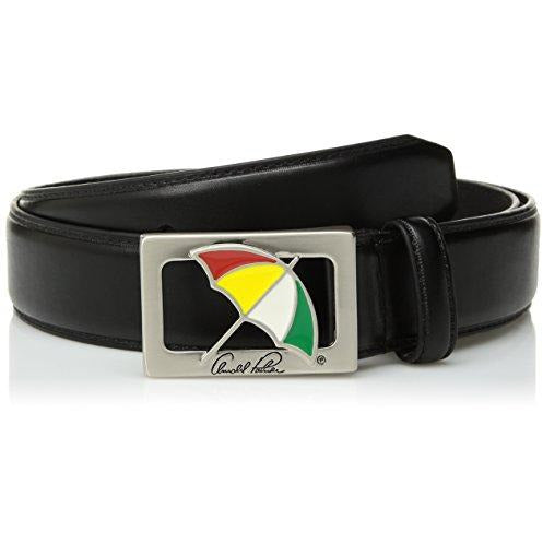 Arnold Palmer Men's Standard Umbrella Buckle Golf Belt, black, 42