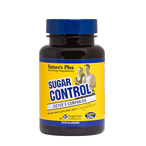 NaturesPlus Sugar Control Dieter's Companion - 60 Vegetarian Capsules - Amino Acid, Mineral & Herb Supplement - Curbs Sugar Cravings - Gluten-Free - 60 Servings