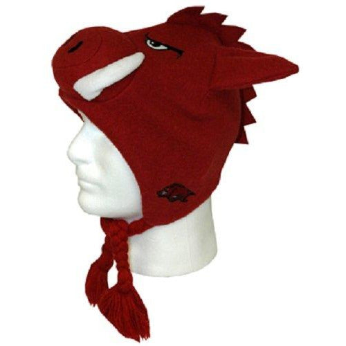 Game Day Outfitters Ncaa Arkansas Razorback Headwear Hog Plush Hat, One Size, Multicolor