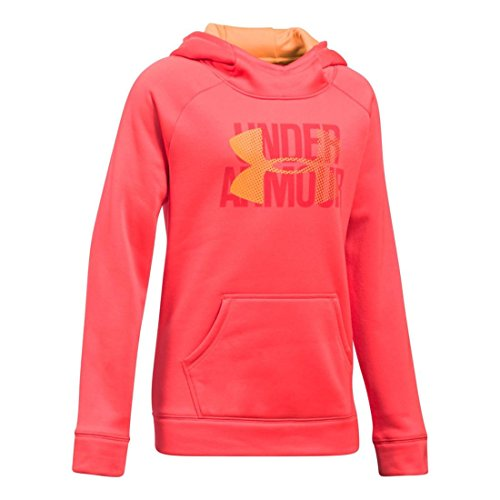 Under Armour Girls Armour Fleece Big Logo Hoodie, Marathon Red, Medium / 10-12 Big Kids