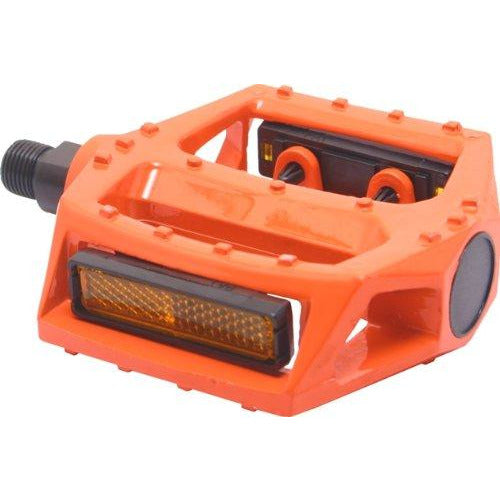 "Big Roc 57Pwp313O Pedal With Reflector (90X98Mm, 480G, Spindle 9/16"", Alloy Orange)"