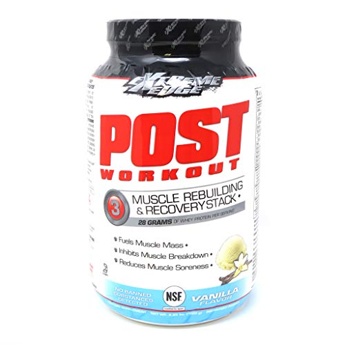 Bluebonnet Nutrition Extreme Edge Post Workout Powder, Vanilla Flavor, 2.25 Pound
