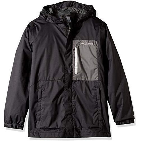 Columbia Boys Splash S'More Rain Jacket, Black, Grill, Medium