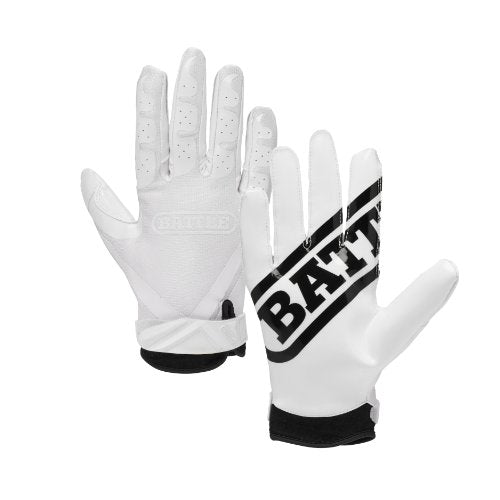 Battle Ultra-Stick Football Gloves Ultra-Tack Sticky Palm Receivers Gloves Pro-Style Receiver Gloves, Adult