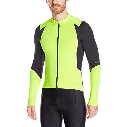 Pearl Izumi - Ride Ride Men's Select Pursuit Long Sleeve Jersey, Screaming Yellow/Black, Small
