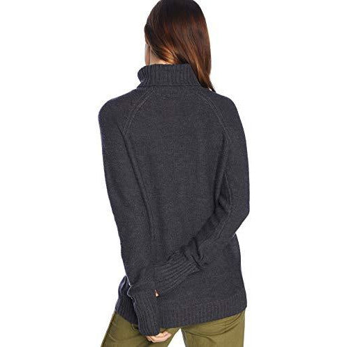 Icebreaker Merino Women's Waypoint Roll Neck Athletic Sweaters, Large, Char Heather