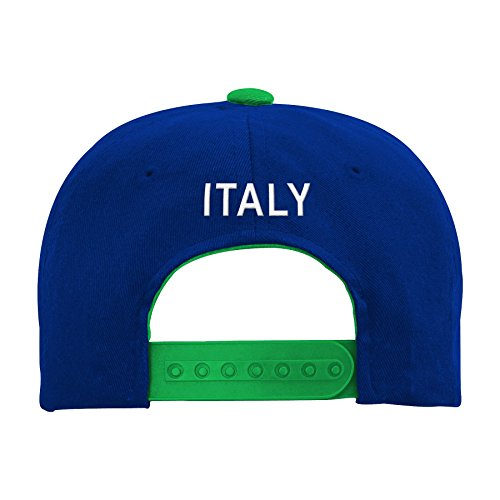 World Cup Soccer Italy Mens -Jersey Hook Flag Snapback, Green, One Size