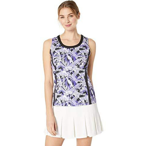 Bollé Purple Passion Printed Tennis Tank, Purple Passion Violet, Small
