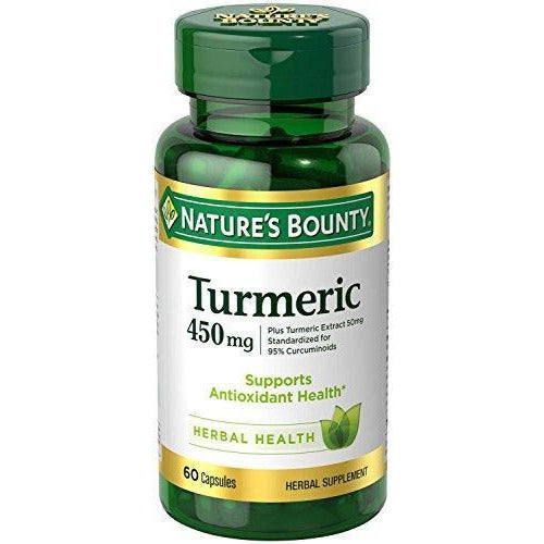 Nature'S Bounty Turmeric Pills And Herbal Health Supplement Supports Joint Pain 450Mg 60 Capsules