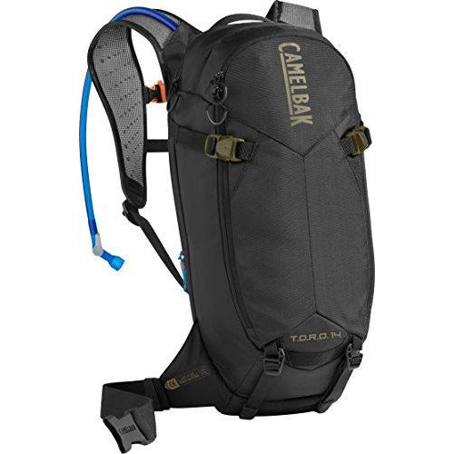 CamelBak T.O.R.O. Protector 14 100 oz Hydration Pack, Black/Burnt Olive
