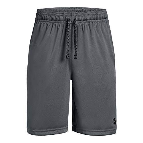 Under Armour Boys' Prototype Wordmark Shorts, Pitch Gray (012)/Black, Youth Medium