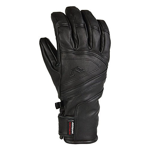 Gordini MEN'S DT LEATHER: EMPYREAN Glove (Black, Large)