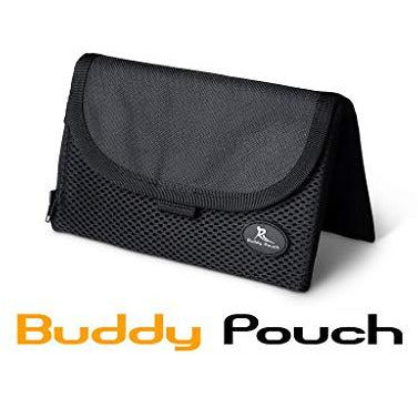"Running Buddy Magnetic Buddy Pouch: Magnet Pocket Pouches for Cell Phones, iPhone & Other Gear - Beltless Running Pouch Waist Bag for Running, Traveling, Hiking & Cycling (Black, XL (6 3/4"" x 4""))"