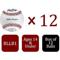 Rawlings Little League Competition Grade Youth Baseballs, Box of 12, RLLB1