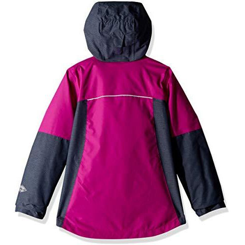 Columbia Big Girl's Whirlibird Ii Interchange Jacket, X-Large, Bright Plum/Nocturnal