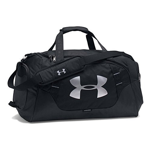 Under Armour Undeniable Duffle 3.0 Gym Bag, Black (001)/Silver, Medium