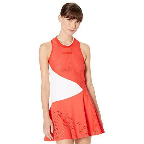 adidas by Stella McCartney Women's Court Tennis Dress, Active Red, Medium