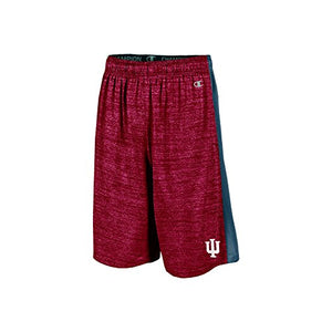 "NCAA Indiana Hoosiers Boys 9"" Inseam Color Blocked Training Short with Pockets, Small, Crimson"
