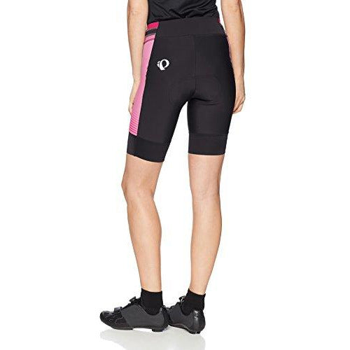 PEARL IZUMI Women's Elite Pursuit Shorts, Black/Screaming Pink DIFUSE, X-Small