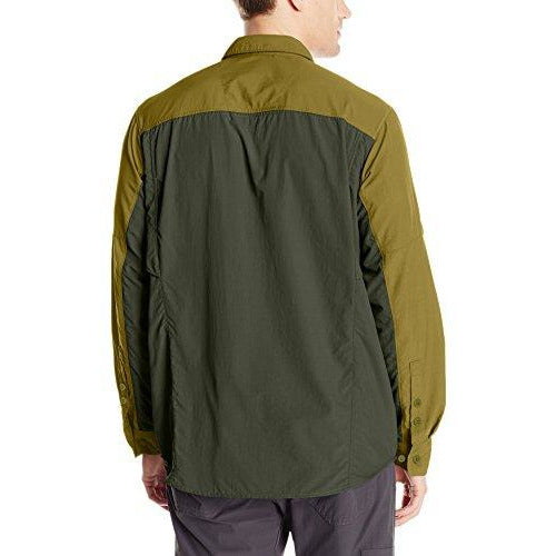 Columbia Men's Silver Ridge Blocked Long Sleeve Shirt, XX-Large, Mossy Green/Surplus Green
