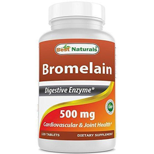Best Naturals Bromelain Proteolytic Digestive Enzymes Supplements, 500 Mg, 120 Tablets