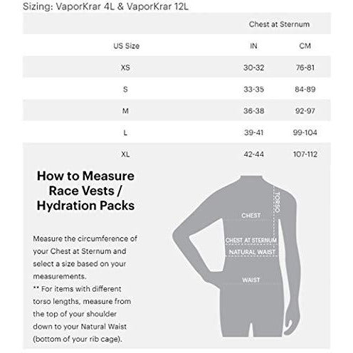 Nathan NS4536 Vaporkrar Hydaration Pack Running Vest with 1.8L Bladder, Blue Stone, Small