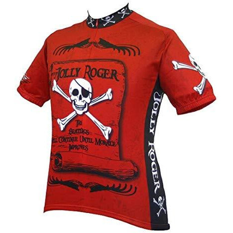 Men's Jolly Roger Pirate Cycling Jersey, Large