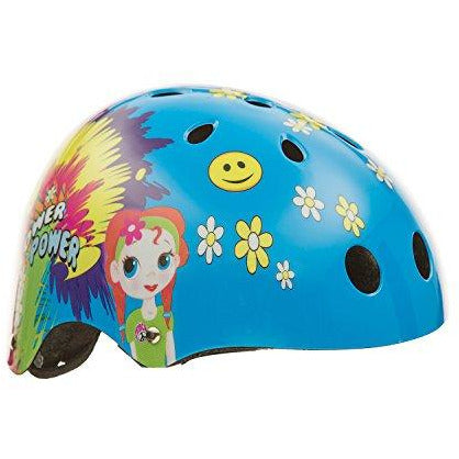 titan Flower Power Princess 11-Vents Protective BMX and Skateboard Helmet, Small