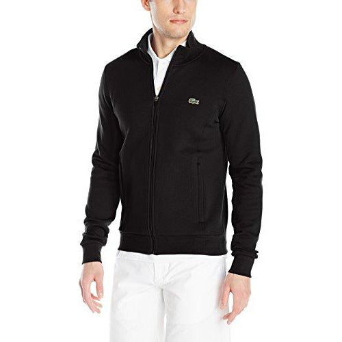 Lacoste Men's Sport Full Zip Fleece Sweatshirt, Black, Large
