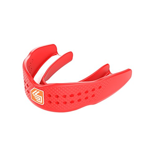 Shock Doctor Superfit Basketball Womens Strapless Mouth Guard, Adult, Red