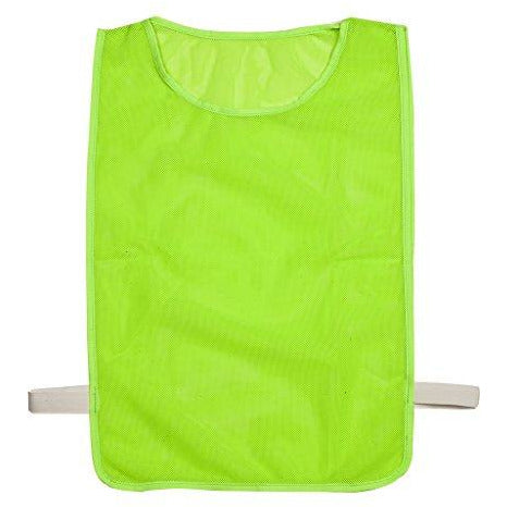 Champion Sports Deluxe Adult Mesh Pinnie, Neon Green - 12 Pack