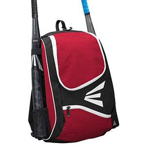 Easton E50Bp Bat & Equipment Backpack Bag | Baseball Softball | 2019 | Red | 2 Bat Sleeves | Large Gear Compartment | Zippered Val
