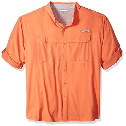 Columbia Men's Low Drag Offshore Long Sleeve Shirt, Bright Peach, 3X Tall