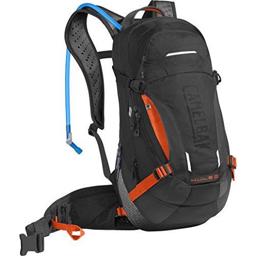 CamelBak M.U.L.E. LR Crux Lumbar Reservoir Hydration Pack, Black/Laser Orange, 3 L/100 oz