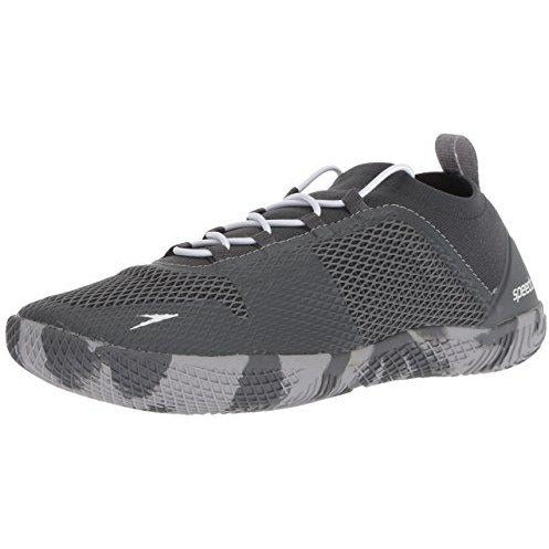 Speedo Men's Fathom AQ Fitness Water Shoes, Dark Heather Grey, 9 US
