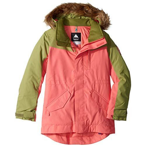 Burton Girls Aubrey Parka Jacket, Small, Georgia Peach/Mosstone