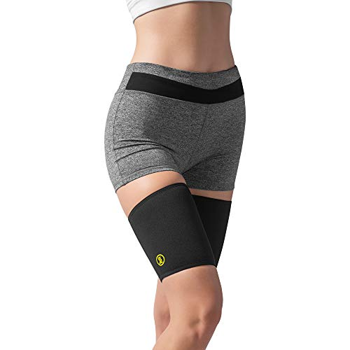HOT SHAPERS Hot Leg Sleeves – Women's Body, Thigh and Hamstring Slimmer – Enhancer for Weight Loss Workouts and Sweat Sessions – Compression Sleeve – Suit – Band (Black, M)