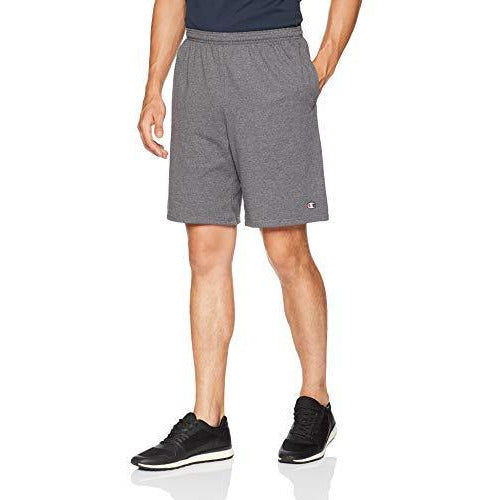 Champion Men'S Jersey Short With Pockets, Granite Heather, Xxx-Large