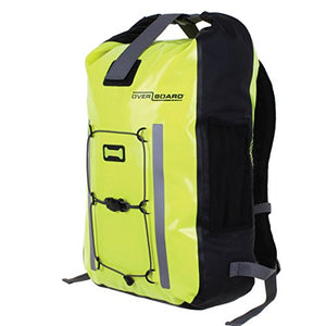 OverBoard Waterproof Pro-Vis Backpack, Yellow, 30-Liter