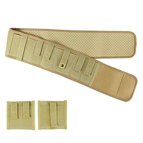 Depring Ultra Comfort Ambidextrous Ventilated Neoprene Belly Band Holster for Concealed Carry | Large Size | with Detachable Pouches (Light Yellow, 57 inch)