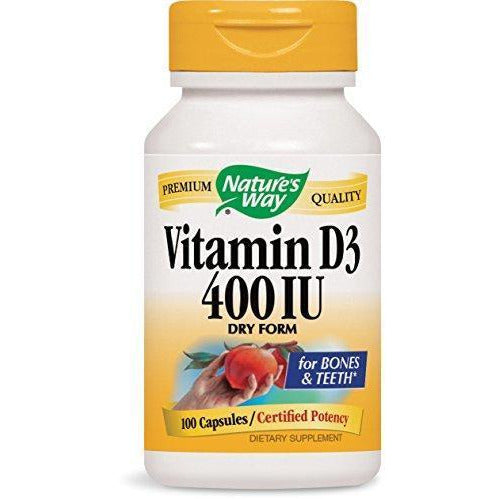 Nature'S Way Vitamin D-400, Dry Form Capsules, 100-Count