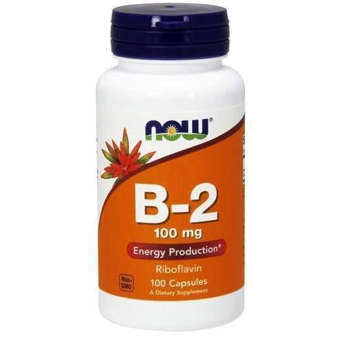 Now Vitamin B-2 (Riboflavin) 100 Mg,100 Capsules