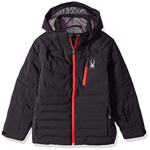 Spyder Boys' Impulse Synthetic Down Ski Jacket, Black/Red, Size 12