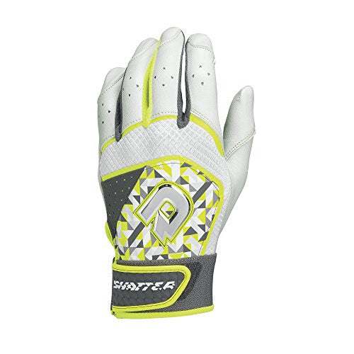 DeMarini Shatter Batting Gloves, Optic, Large, Pair