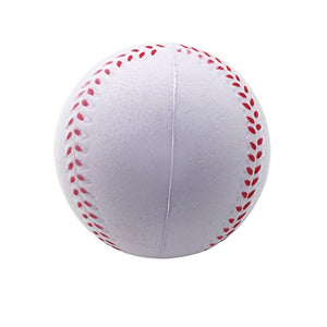 Silfrae Foam Baseball/Softball (Standard or Oversized 4pk) Foam Training Ball for Kids Teenager Players, Reduced Impact and Prevent Injury Practice Baseball (4pk-Standard Size, Standard Size)
