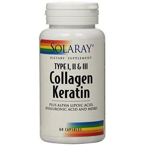 Solaray Collagen Keratin Type I, Ii, And Iii Capsules, 60 Count