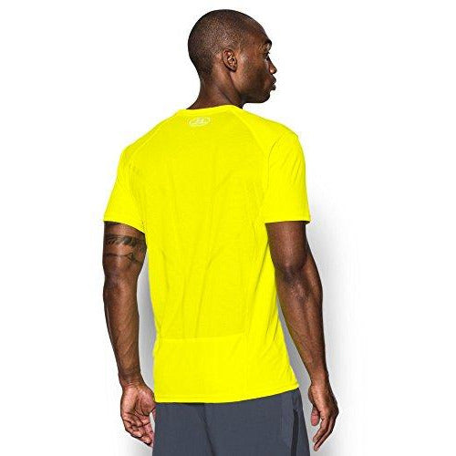 Under Armour Men's CoolSwitch Run Short Sleeve, Yellow Ray /Reflective, Small