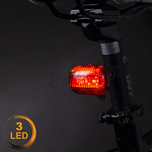 BV Bicycle Light Set Super Bright 5 LED Headlight, 3 LED Taillight, Quick-Release